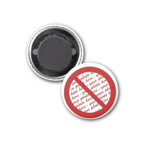 Prohíba o símbolo de la prohibición - añada la ima