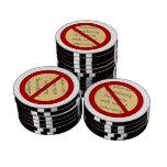 Prohíba o símbolo de la prohibición - añada la ima juego de fichas de póquer