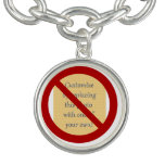 Prohíba o símbolo de la prohibición - añada la ima pulsera