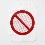 Prohíba o símbolo de la prohibición - añada la ima paños de bebé