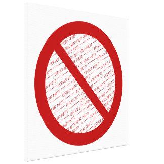 Prohíba o símbolo de la prohibición - añada la impresiones de lienzo