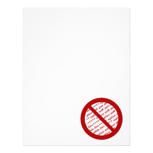 Prohíba o símbolo de la prohibición - añada la membretes personalizados