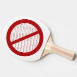 Prohíba o símbolo de la prohibición - añada la pala de ping pong