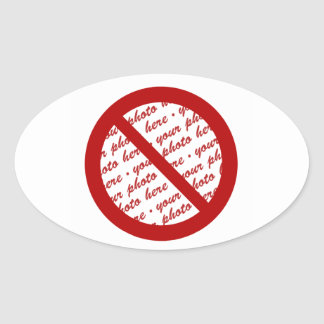 Prohíba o símbolo de la prohibición - añada la calcomania de ovaladas