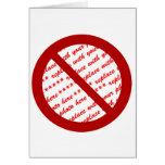 Prohíba o símbolo de la prohibición - añada la tarjetón