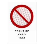 Prohíba o símbolo de la prohibición - añada la plantilla de tarjeta de visita