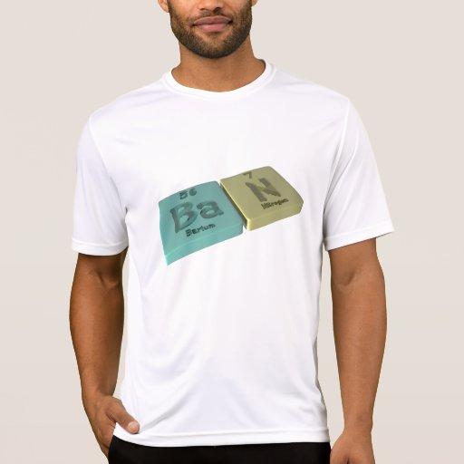 Prohibición como el bario de los vagos y nitrógeno camisetas
