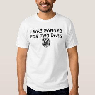 Prohibición de 2 días (blanca) playeras