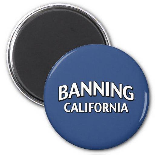Prohibición de California Imán Redondo 5 Cm