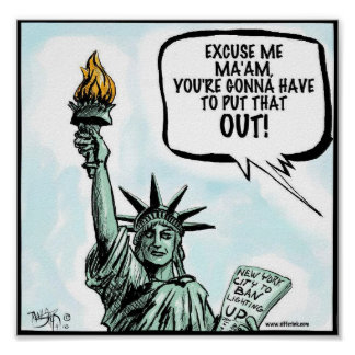 Prohibición de fumar de New York City Posters