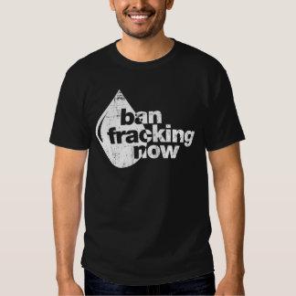 Prohibición Fracking ahora Remeras