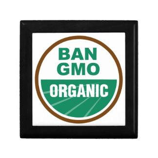 Prohibición GMO orgánico Cajas De Joyas