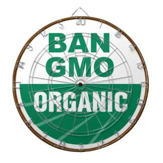 Prohibición GMO orgánico Tablero De Dardos