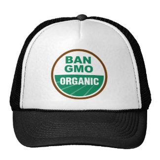 Prohibición GMO orgánico Gorra