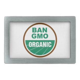 Prohibición GMO orgánico Hebilla Cinturon