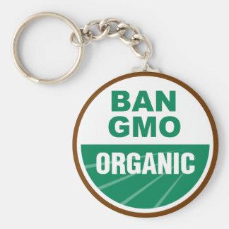Prohibición GMO orgánico Llaveros