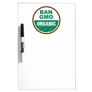 Prohibición GMO orgánico Pizarra Blanca