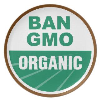 Prohibición GMO orgánico Platos De Comidas