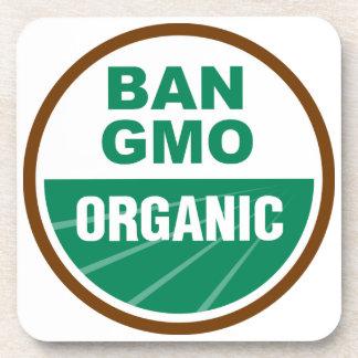 Prohibición GMO orgánico Posavasos De Bebida