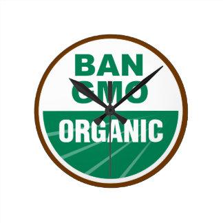 Prohibición GMO orgánico Relojes