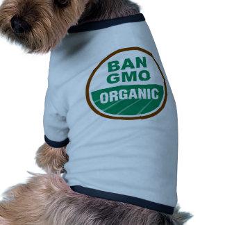 Prohibición GMO orgánico Camiseta De Perrito