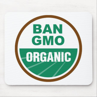Prohibición GMO orgánico Tapetes De Ratón
