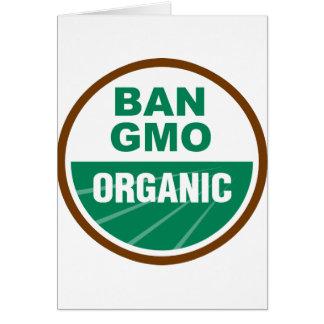 Prohibición GMO orgánico Felicitaciones