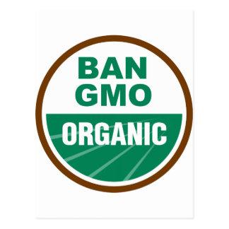 Prohibición GMO orgánico Tarjetas Postales