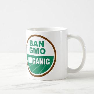 Prohibición GMO orgánico Taza