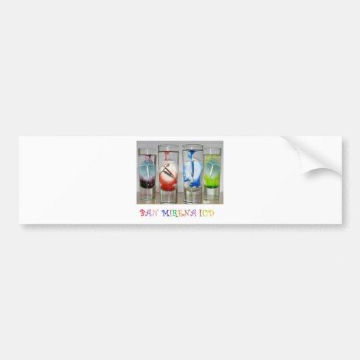 Prohibición Mirena IUD Etiqueta De Parachoque