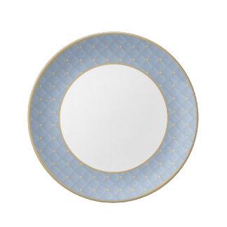 Prohibición moldeada de los azules claros y platos de cerámica