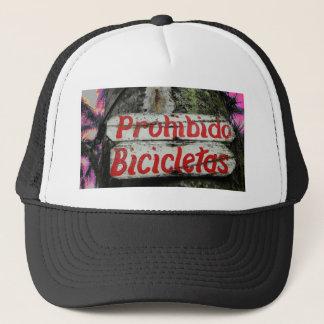 Prohibido Bicicletas No Bicycles Espanol Spanish Trucker Hat