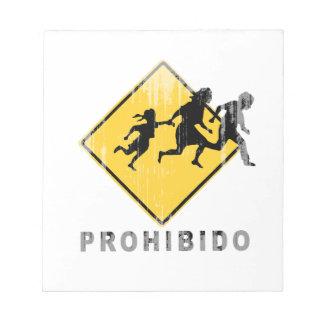 Prohibido Faded png Memo Note Pad