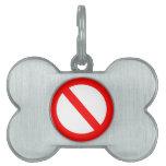 Prohibido Placa De Mascota