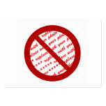 Prohibit or Ban Symbol - Add Image Business Card