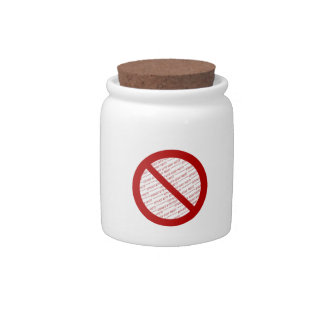 Prohibit or Ban Symbol - Add Image Candy Jars