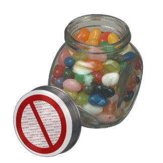 Prohibit or Ban Symbol - Add Image Glass Jars