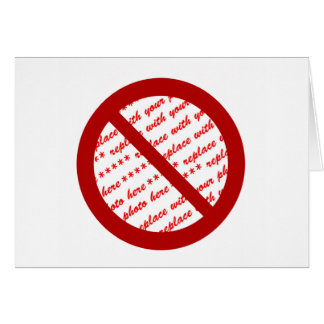 Prohibit or Ban Symbol - Add Image Card