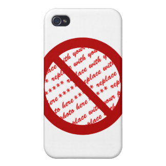 Prohibit or Ban Symbol - Add Image Cover For iPhone 4
