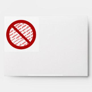 Prohibit or Ban Symbol - Add Image Envelopes