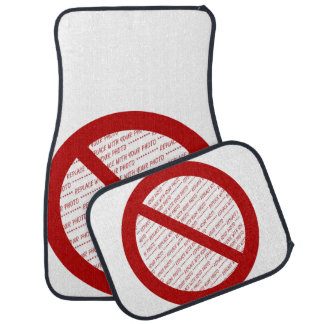 Prohibit or Ban Symbol - Add Image Floor Mat
