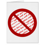 Prohibit or Ban Symbol - Add Image Greeting Cards