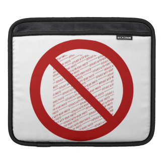 Prohibit or Ban Symbol - Add Image Sleeves For iPads