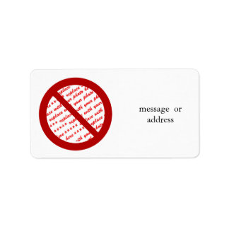 Prohibit or Ban Symbol - Add Image Personalized Address Labels
