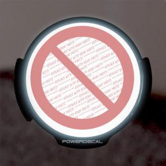 Prohibit or Ban Symbol - Add Image LED Car Decal