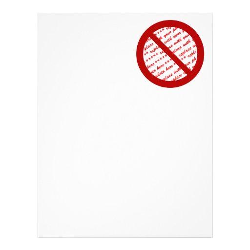 Prohibit or Ban Symbol - Add Image Letterhead