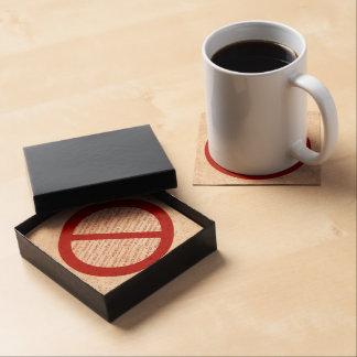 Prohibit or Ban Symbol - Add Image Beverage Coasters