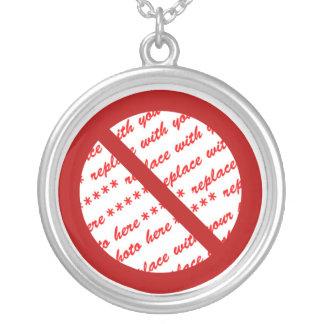 Prohibit or Ban Symbol - Add Image Round Pendant Necklace