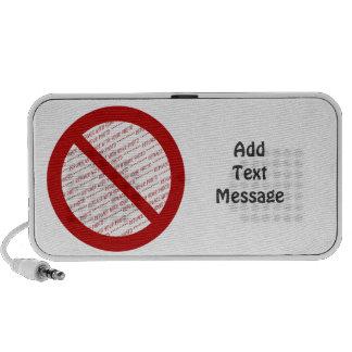 Prohibit or Ban Symbol - Add Image iPhone Speakers
