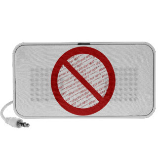 Prohibit or Ban Symbol - Add Image Notebook Speakers